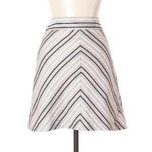 Ann Taylor Woven Peach Chevron Skirt